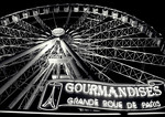 """""""Gourmandises Ferris Wheel"""" At the foot of Champs Elysees leading up to Y2k Print Size: 23h x 35w"""